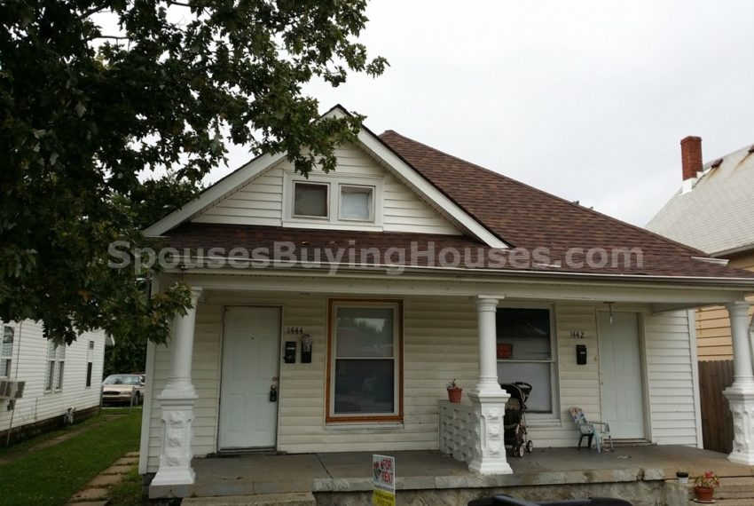 we buy houses for cash Indianapolis 1442-1444 S Richland Front Exterior