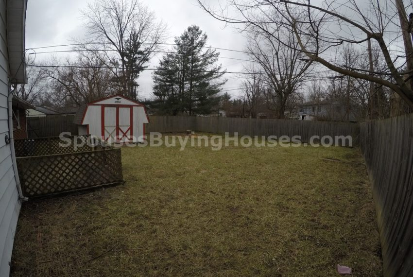Sell your own house Indianapolis Back Yard