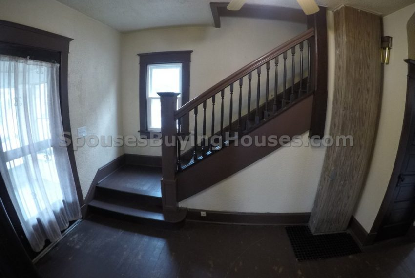 we buy homes fast Indianapolis stairs
