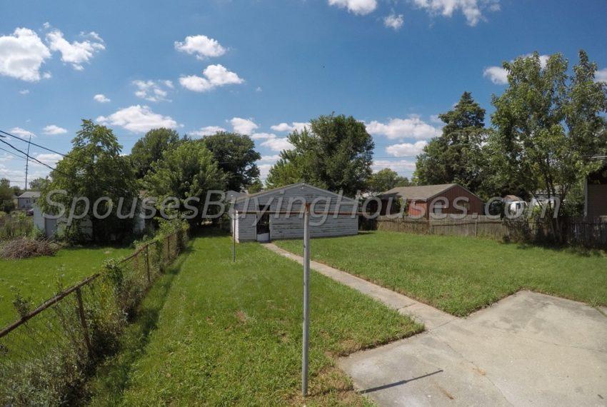 we buy homes fast Indianapolis Rear Yard