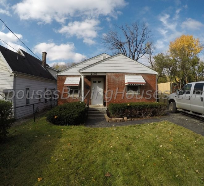 Sell your own house Indianapolis Front Exterior 236 S Sherman