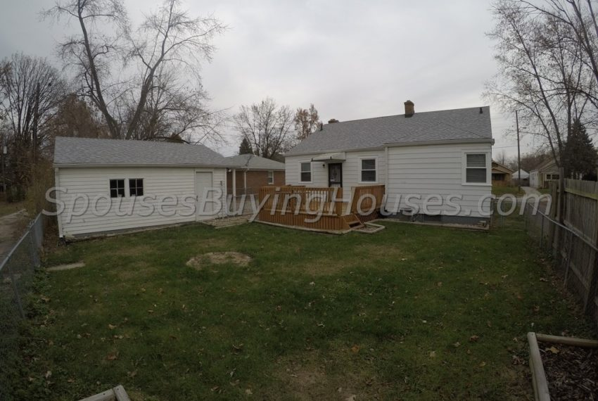 sell your house fast Indianapolis Back Exterior